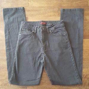 Boys 7FAMK Olive/Gray Skinny Jeans Pants